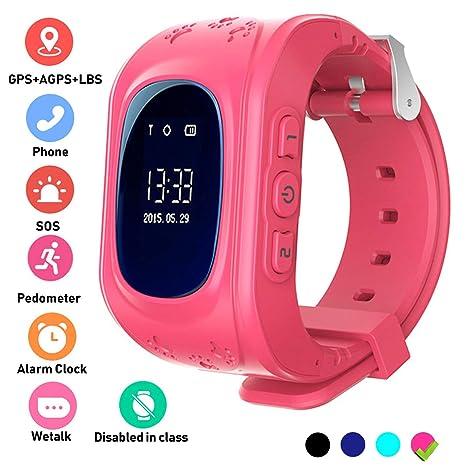 Hangang Reloj GPS Niño smartwatch Niño Rastreador Niños Reloj de ...