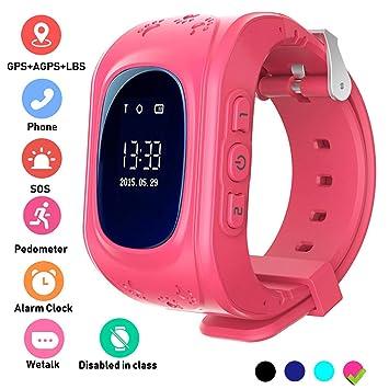 Hangang Reloj GPS Niño smartwatch Niño Rastreador Niños Reloj de Pulsera teléfono SIM Anti-Lost Sos Pulsera Parent Control por iOS y Android ...