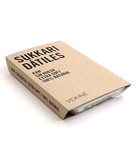 Dátiles naturales sin hueso extra soft Sukkari VEKINE | Caramelo y dulce de leche