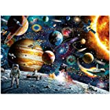 1000 Pieces Jigsaw Puzzle Men in Outer Space View