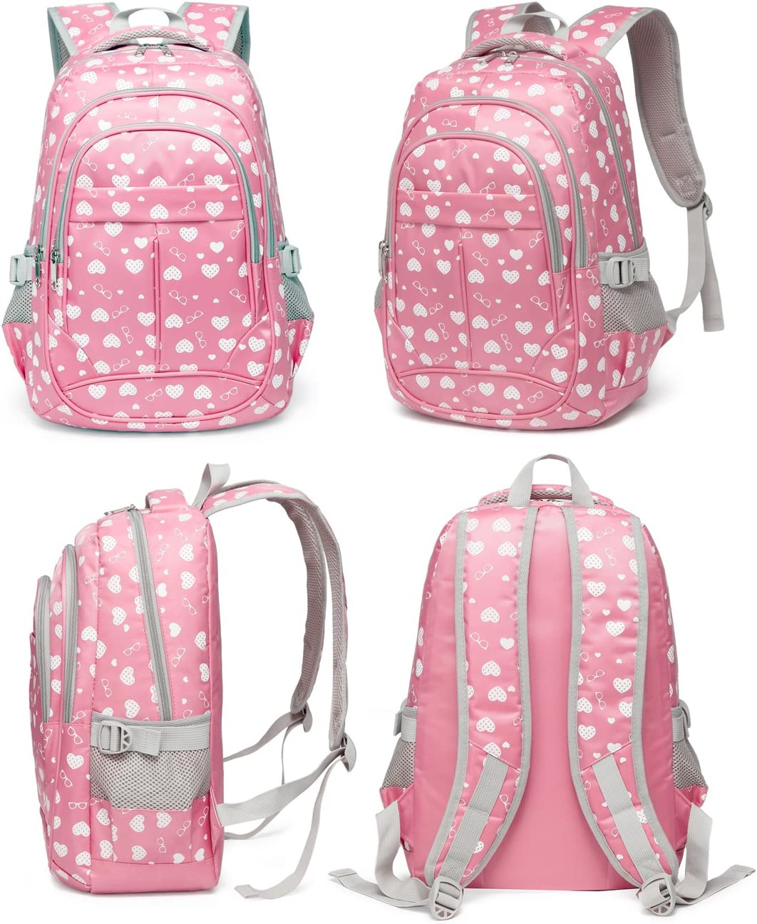 Girl backpack customizable-kindergarten in pale pink linen and swans cotton pink-back to school birthday. gift birth