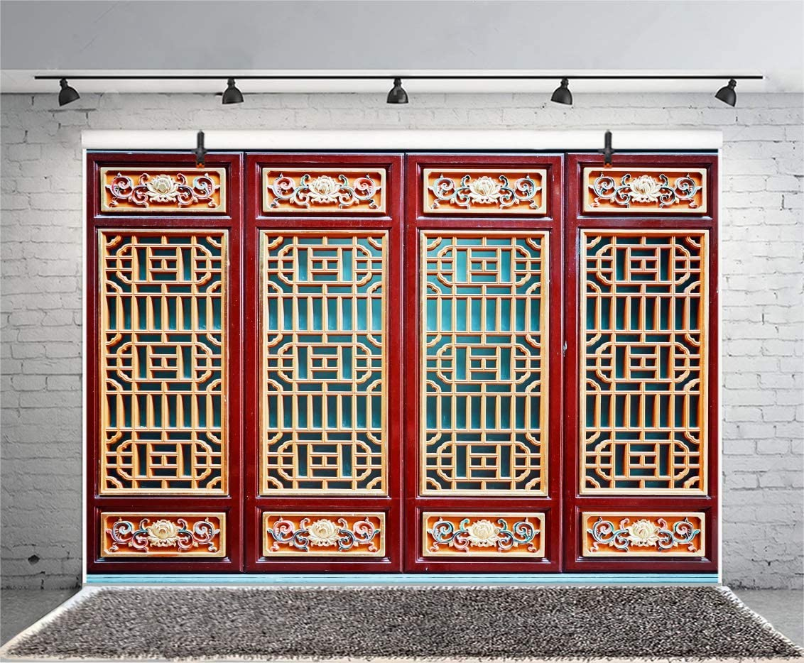 10x8ft Chinese Style Background for Photography Ancient Traditional Windows Texture Backdrop Adult Kids Photo Booth Shoot Vinyl Studio Props