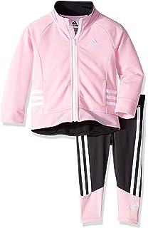 281f50873 Amazon.com: Adidas Girls' Tricot Zip Jacket and Pant Set: Clothing