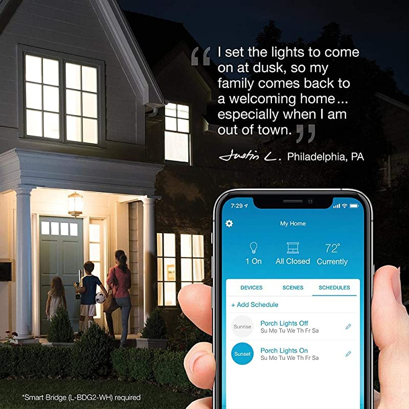 Lutron Caseta Smart Home Plug-in Lamp Dimmer Switch, Works with Alexa, Apple HomeKit