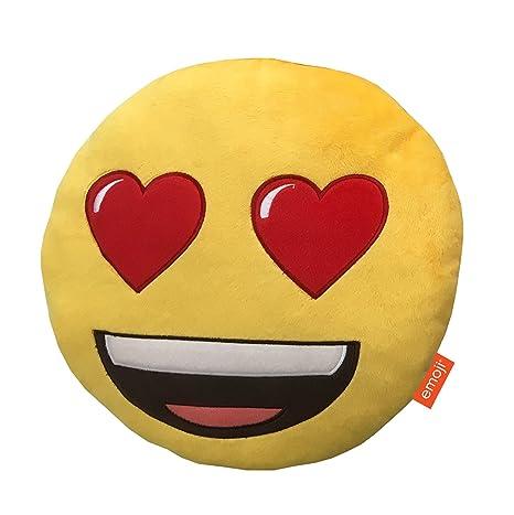Emoji Corazón Ojos cojín, Multi