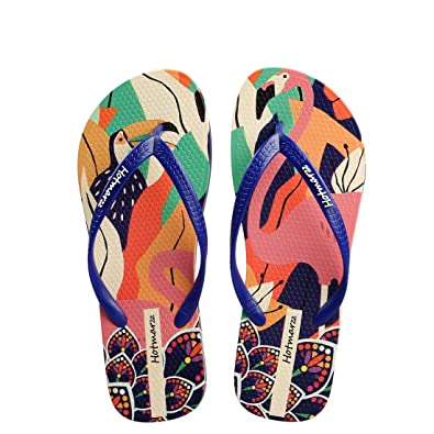 983d06dbc Hotmarzz Women s Flamingo Print Summer Colorful Beach Slippers Flip Flops  Sandals Size 3 B(M