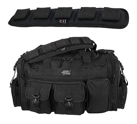 7759f1519b01 NPUSA Mens Large 26 quot  Black Duffel Duffle Military Molle Tactical Gear  Shoulder Strap Travel Bag
