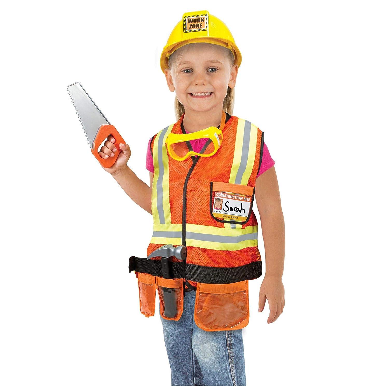 d7fc5fc88 Melissa & Doug Construction Worker Role Play Costume Dress-Up Set (6 pcs)