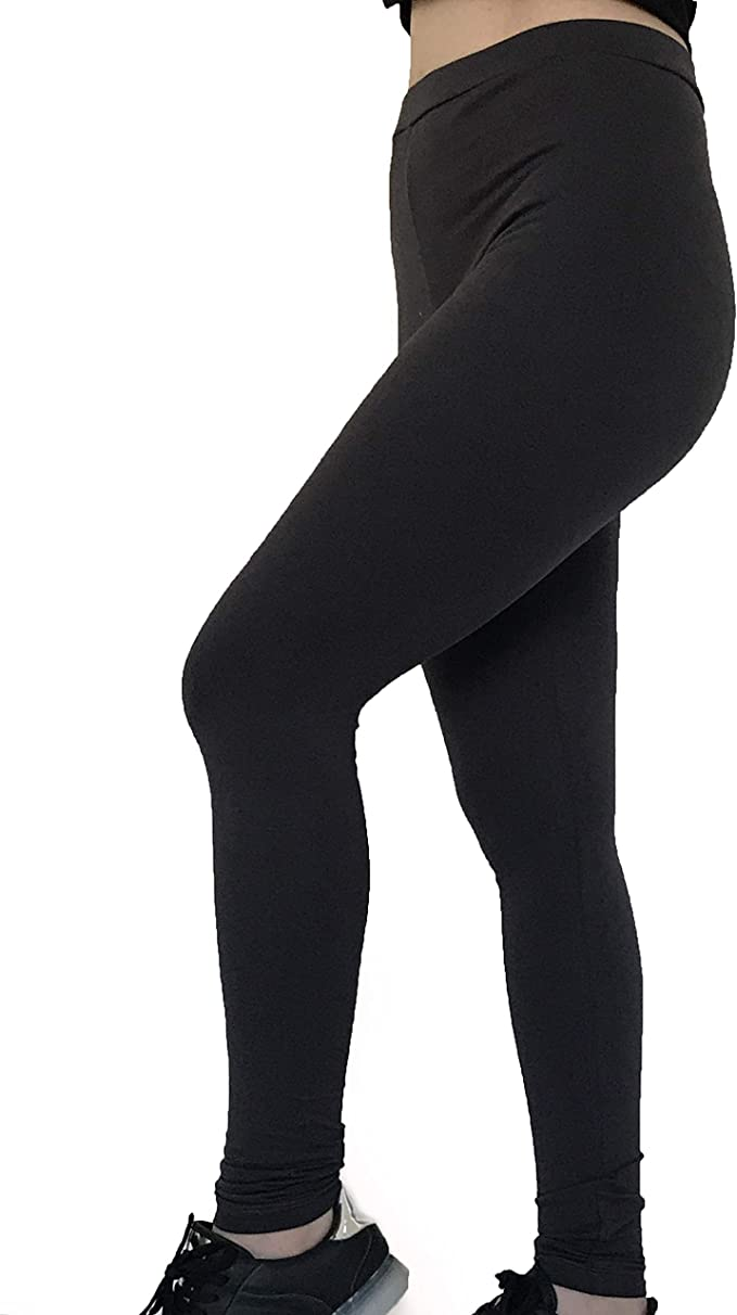 ONE For The ONE Leggins de algodón Egipcio de Licra prémium, Cintura de Yoga, tamaño Regular Grande, Longitud Completa - Gris - XXXL: Amazon.es: Ropa y accesorios
