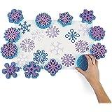 Kinderstempel XXL Schneekristalle Eiskristalle Weihnachten 12 verschiedenen Motiven Palandi®