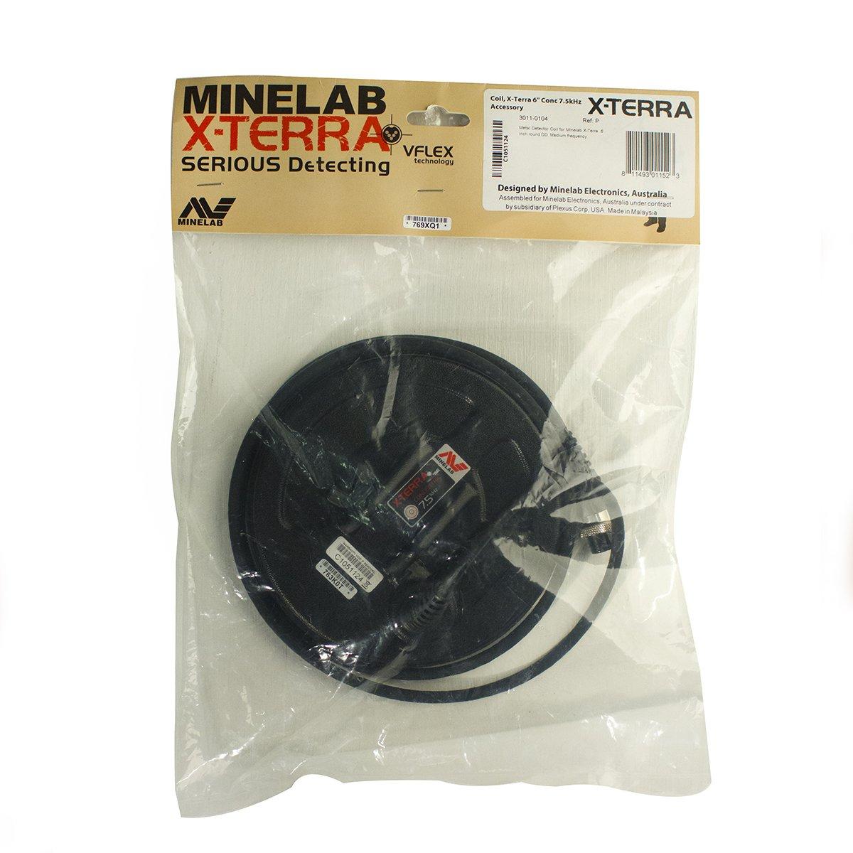 PLACA DE METAL DETECTOR CERCAMETALLI MINELAB X-TERRA 6 «DD 7, 5 kHz: Amazon.es: Jardín