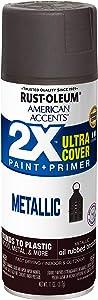 Rust-Oleum 327906 American Accents Spray Paint, 12 Oz, Metallic Oil Rubbed Bronze