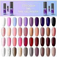 Coscelia UV-gellak, 5 ml UV-nagellak Kleurgel-starterset 40-delige UV-nagellakset voor nagelset Gelnagels starterset