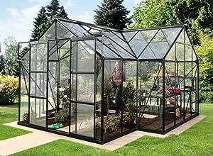 Vitavia Sirius ESG - Invernadero, 3 mm, 13 m², color negro: Amazon.es: Jardín