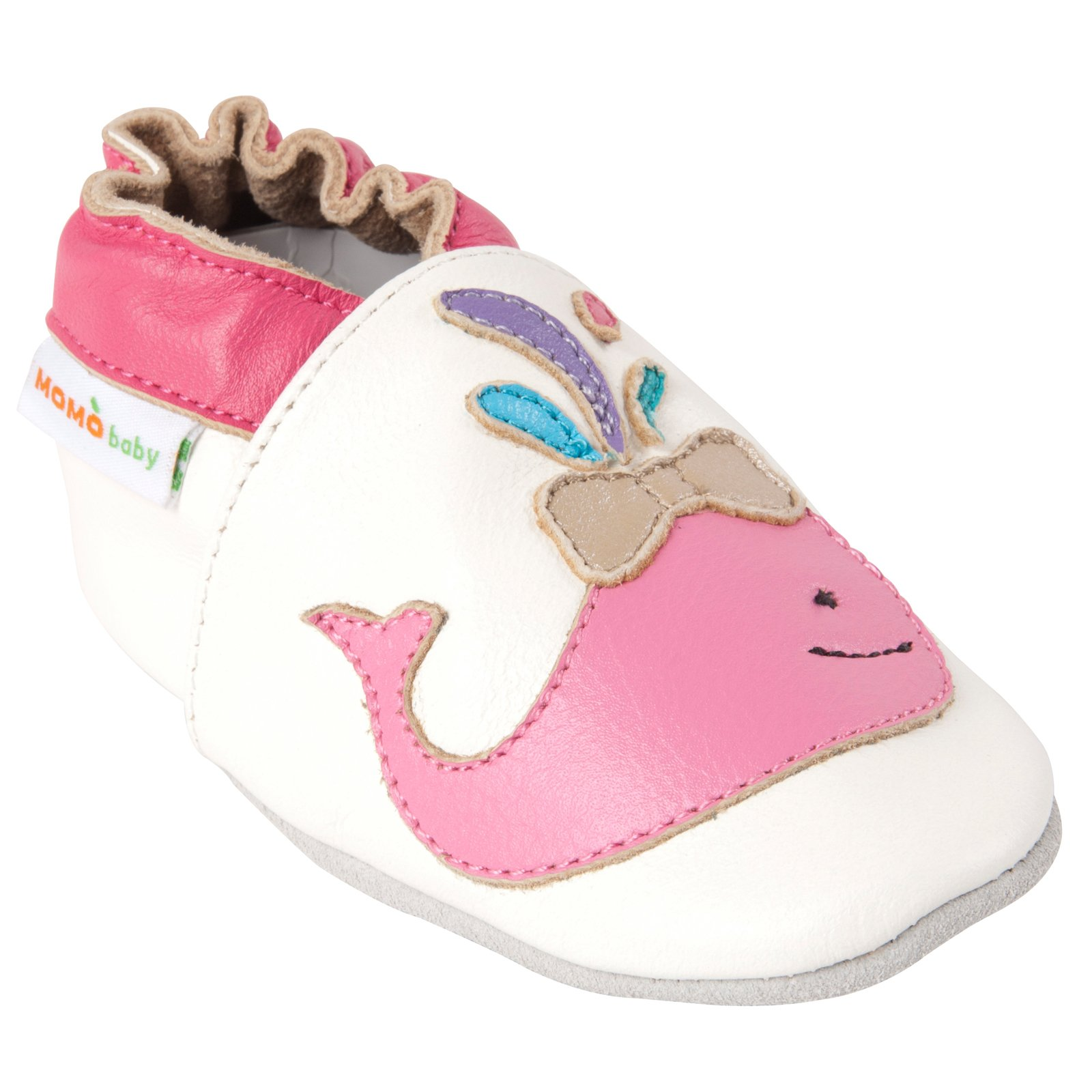 Momo Baby Girls Soft Sole Leather Crib Bootie Shoes - 6-12 Months/3-4 M US Toddler by Momo Baby (Image #2)