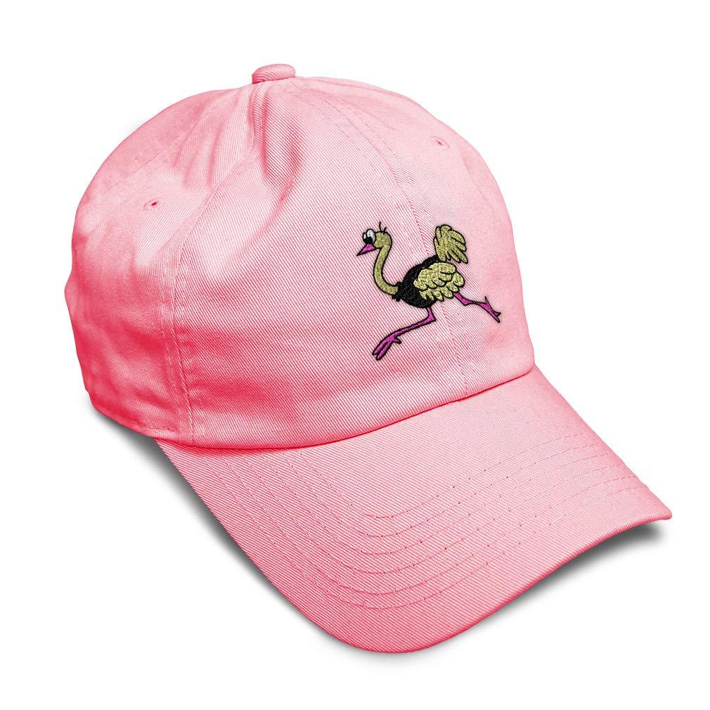 Custom Soft Baseball Cap Running Ostrich Embroidery Dad Hats for Men /& Women