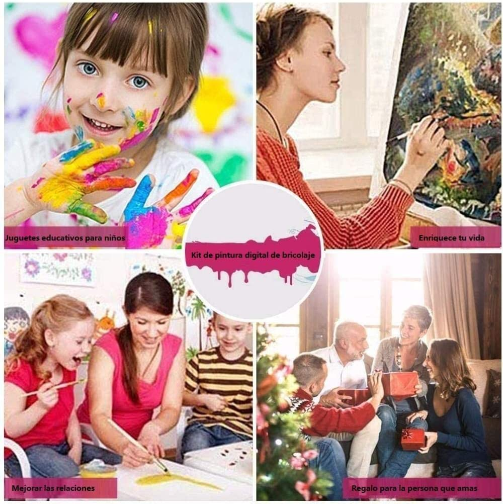 Bricolaje Pintar por n/úmeros para Adultos y ni/ños Lienzo Lino Pintar por n/úmeros Bailarina Cisne es una Especie de Bonito y fant/ástico Regalo para Tus Amigos Familiares.