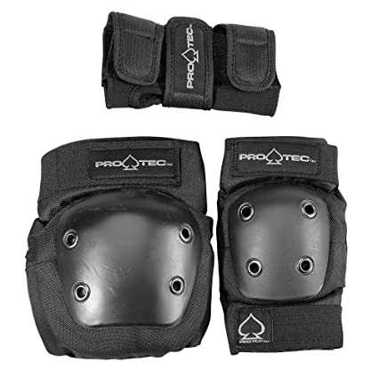 68856e68dcd26 Protec Jr.Combo- Knee, Elbow, Wrist, Safety Skate Pads - Black