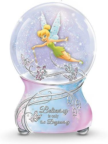 The Bradford Exchange Disney Tinker Bell Musical Glitter Globe with Sentiment
