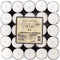 Cocod'or Scented Tealight Candles 25 Pack, Cotton Flower, 5-8 Hour Extended Burn Time, Made In Italy