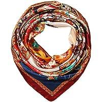Corciova Square Stain Silk Like Hair Wrapping Scarves Night Sleeping Head Scarf