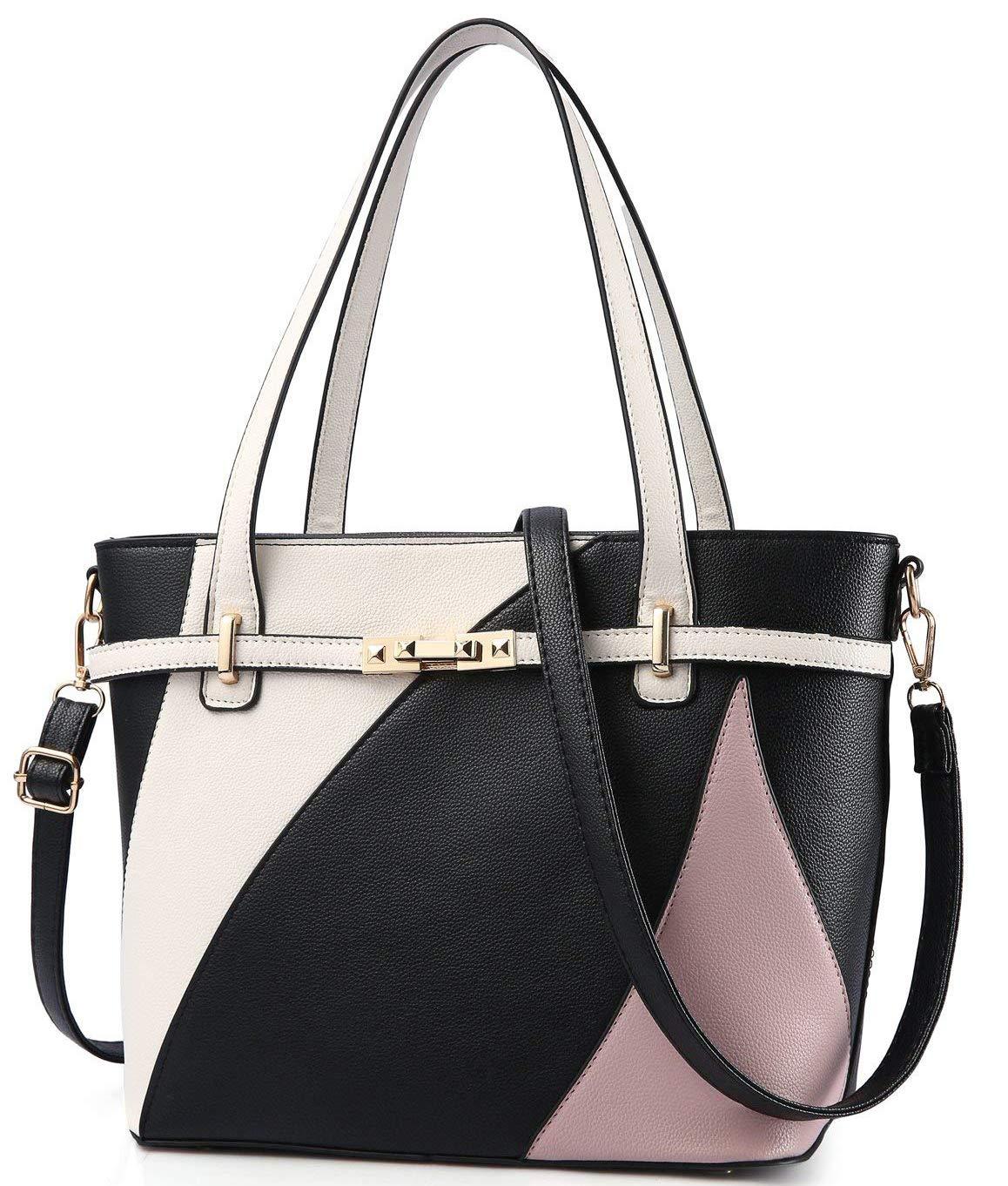 Black Handbags for Women Shoulder Tote Bags Satchel Purse Top Handle Designer Leather Ladies Cossbody Bag
