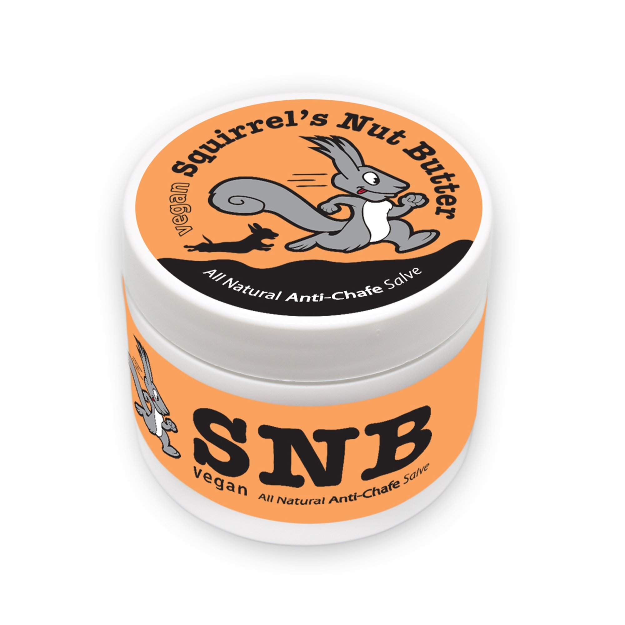 Squirrel's Nut Butter Vegan All Natural Anti Chafe Salve, Tub, 2.0 oz
