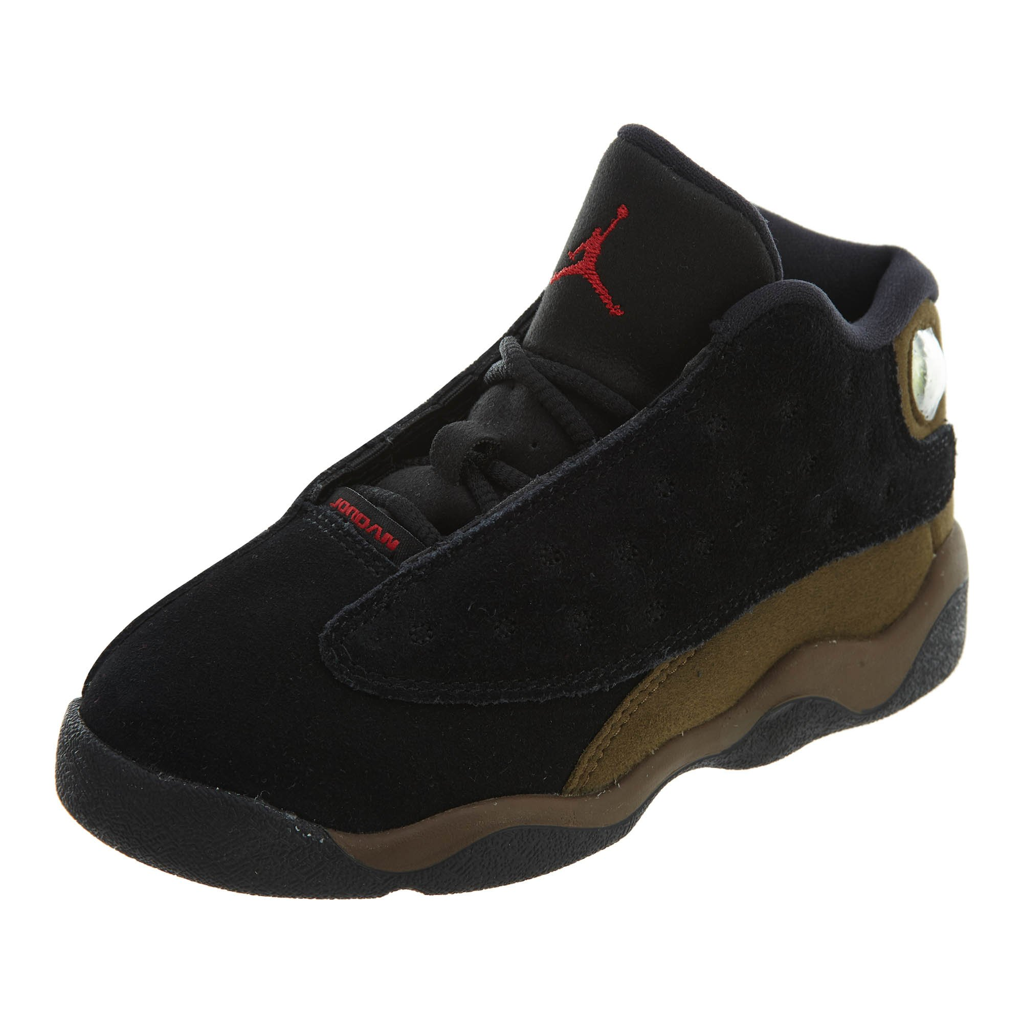 Jordan Retro 13'' Olive Black/Gym Red-Light Olive (Toddler) (9)