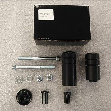 9sparts/® Black No Cut Frame Sliders Engine Crash Protector Guards For 1999 2000 Kawasaki ZRX1100 2001 2002 2003 2004 2005 Kawasaki ZRX1200R
