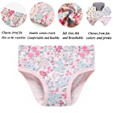 Sladatona Little Girls' Soft Cotton Underwear Bring Cool, Breathable Comfort Experience Panty 6-7years Pink/White