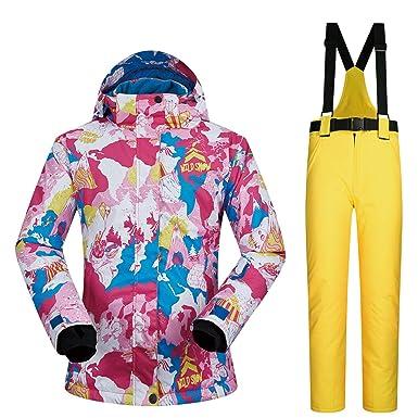 Joey Trajes de esquí para Mujer de Invierno a Prueba de Agua ...