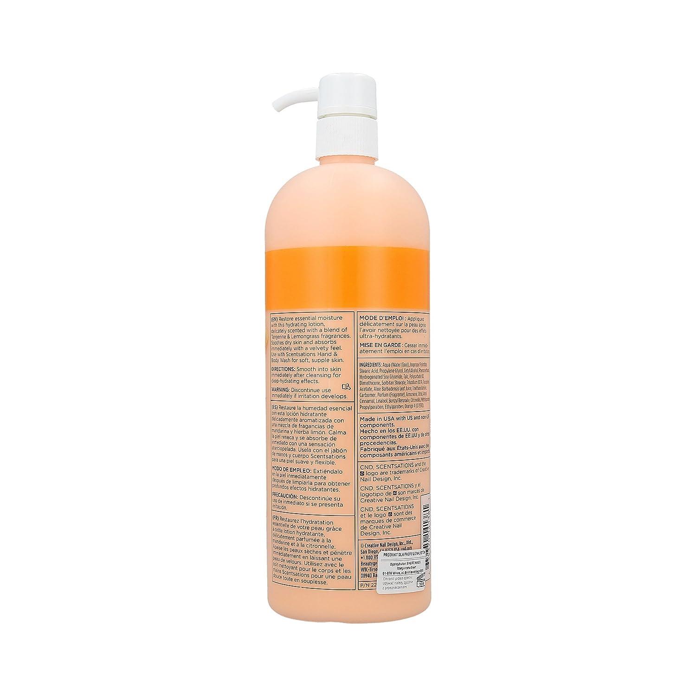 Cnd Scentsations Tangerine Lemongrass Hand Body Lotion 31oz By