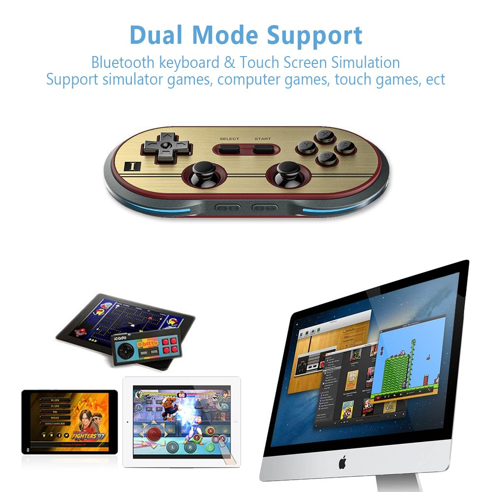 8Bitdo F30 Pro Wireless Bluetooth Controller Game Gamepad Retro Styled for Android / MacOS / Windows by RunSnail (Image #3)