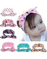 ROEWELL Baby's Headbands Girl's Cute Hair Bows Hair bands Newborn headband (6 Pack)