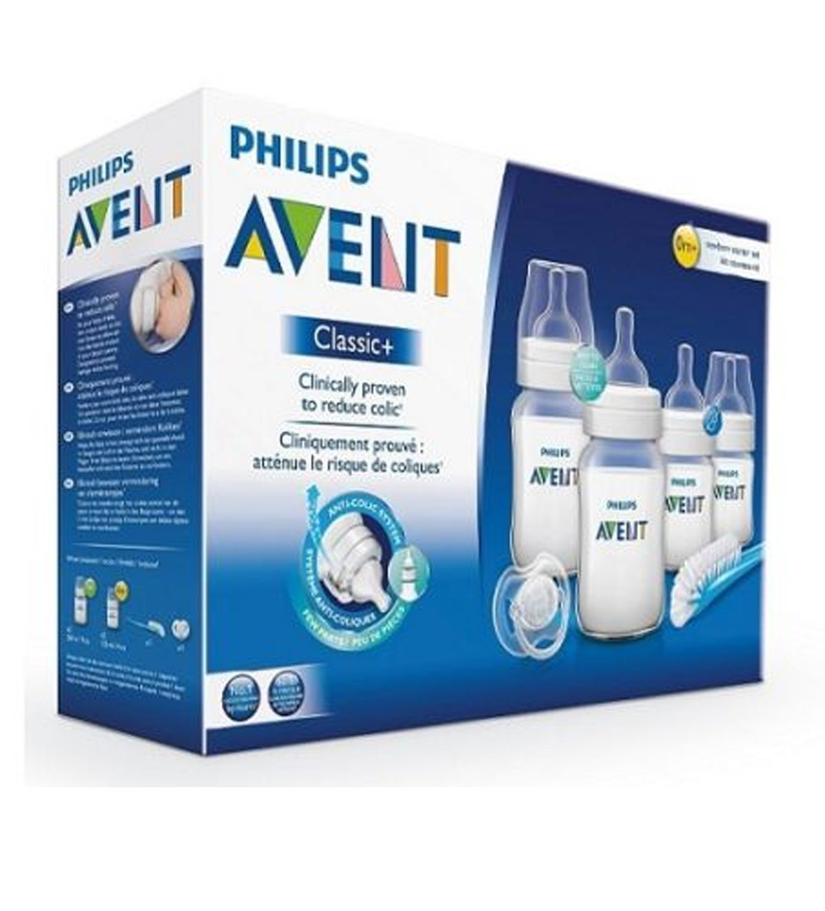Philips Avent SCD371 Newborn baby Bottle Kit 4 bottles Starter Set Classic
