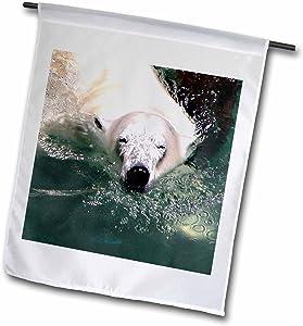 3dRose fl_12206_1 Cool Polar Bear Garden Flag, 12 by 18-Inch