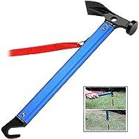 iwobi Multifunctionele High Carbon Staal Camping Houten hamer Hamer voor haringen (blauw)