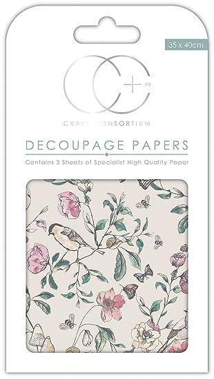 Alte Postkarte Craft Consortium Premium-D/écoupagepapier