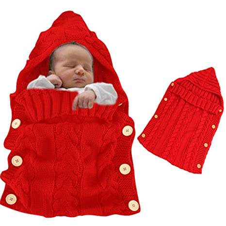 Saco Dormir para Bebé Recién Nacido, Vandot Swaddle Wrap Manta Niños Bebés Manta Tejida Envolver