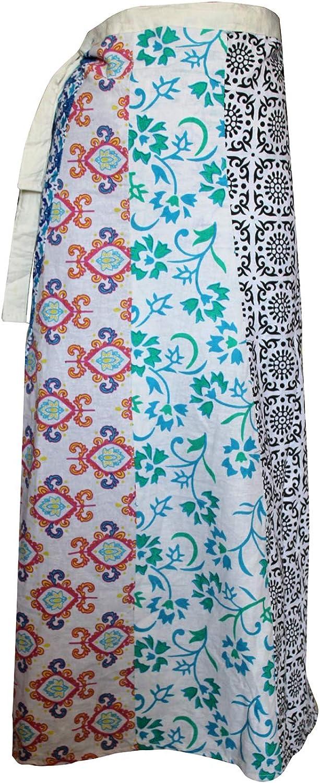 Lakkar Haveli Falda larga con estampado floral bohemio hippie ...