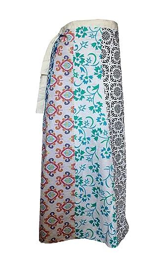 Lakkar Haveli - Falda Larga para Mujer, diseño de Patchwork ...
