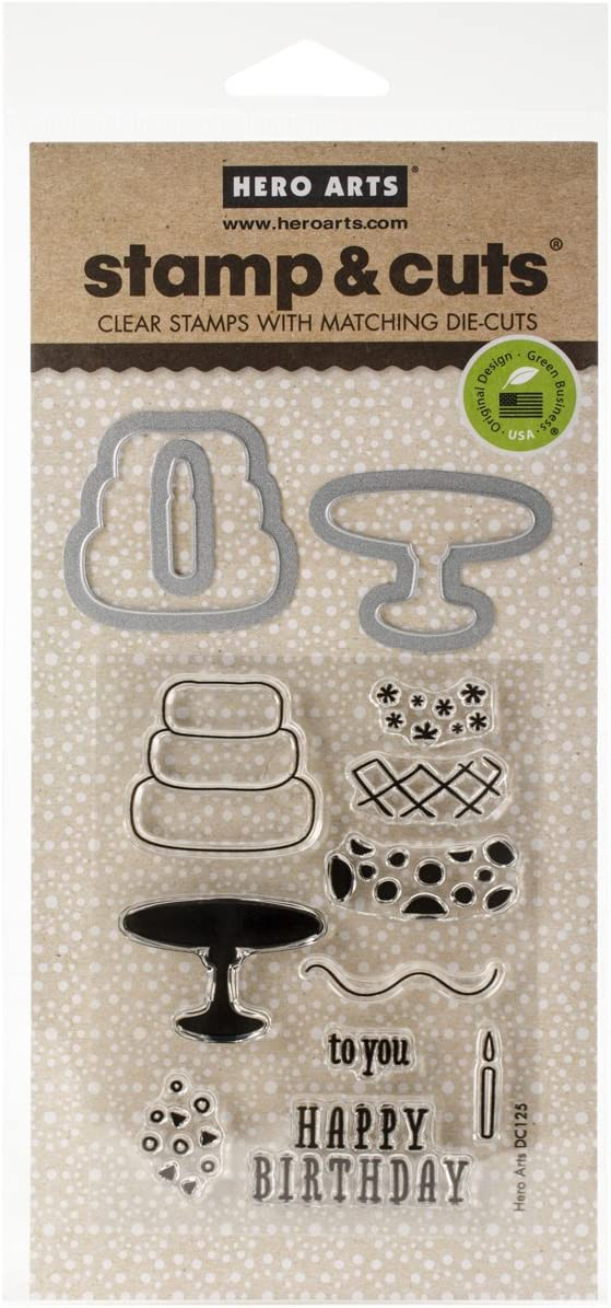 Hero Arts Stamp and Cut Hello Stamp with Matching Die Cut Set DC151 NEW