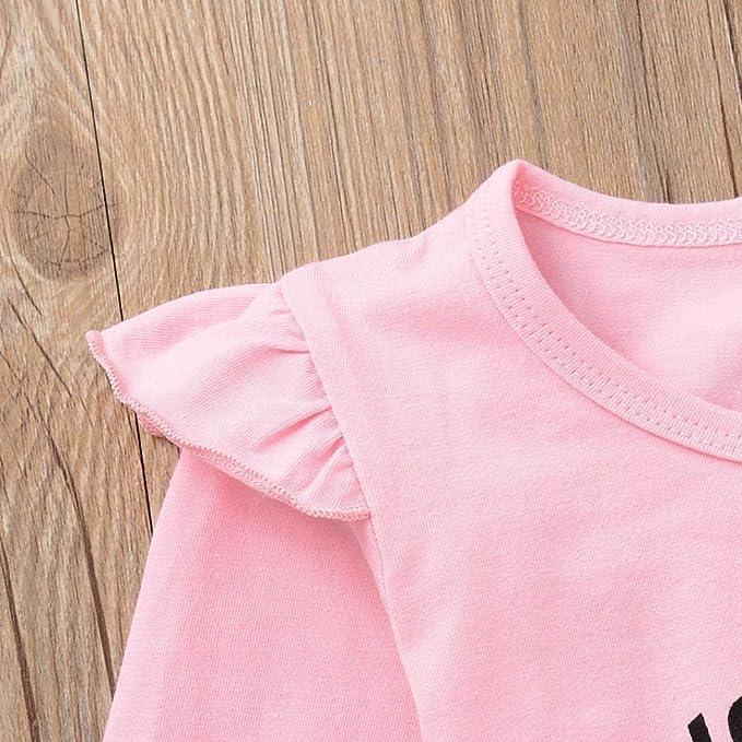Ropa Bebe, ❤ Modaworld Recién Nacido bebé niño bebés niñas Carta Tops Camiseta Camisas y Estampados Pantalones geométricos Trajes Conjunto Conjuntos de ...
