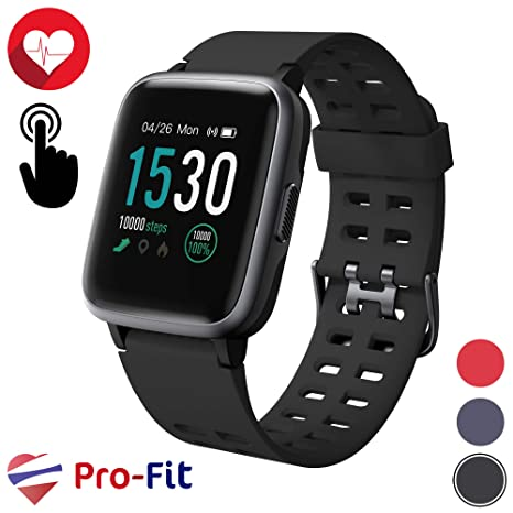 Pro-Fit Inspire VeryFitPro Smart Watch IP68 Waterproof Fitness Tracker Heart Rate Monitor Step Counter (ID205) (Black)