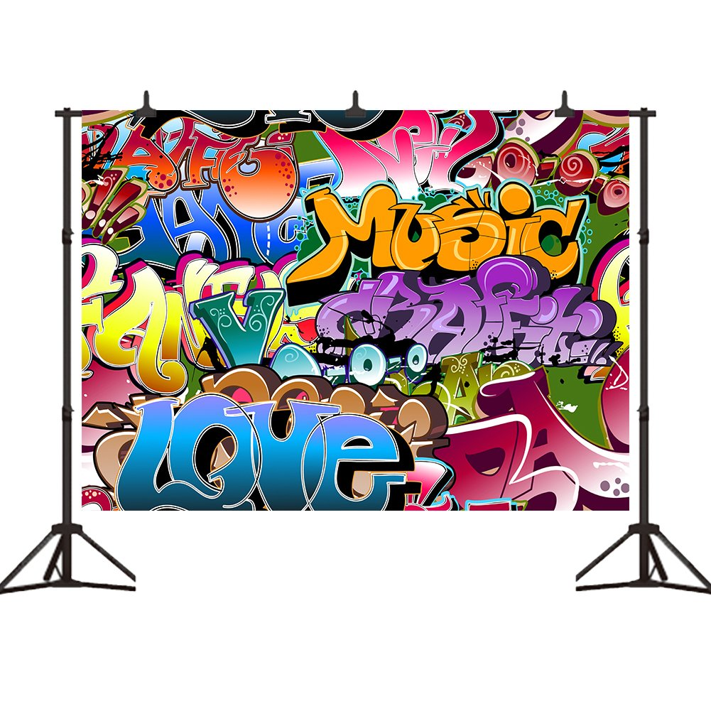 Amazon com 7x5ft graffiti style photography backdrops vinyl hip hop 90s party decoration photo background studio prop camera photo