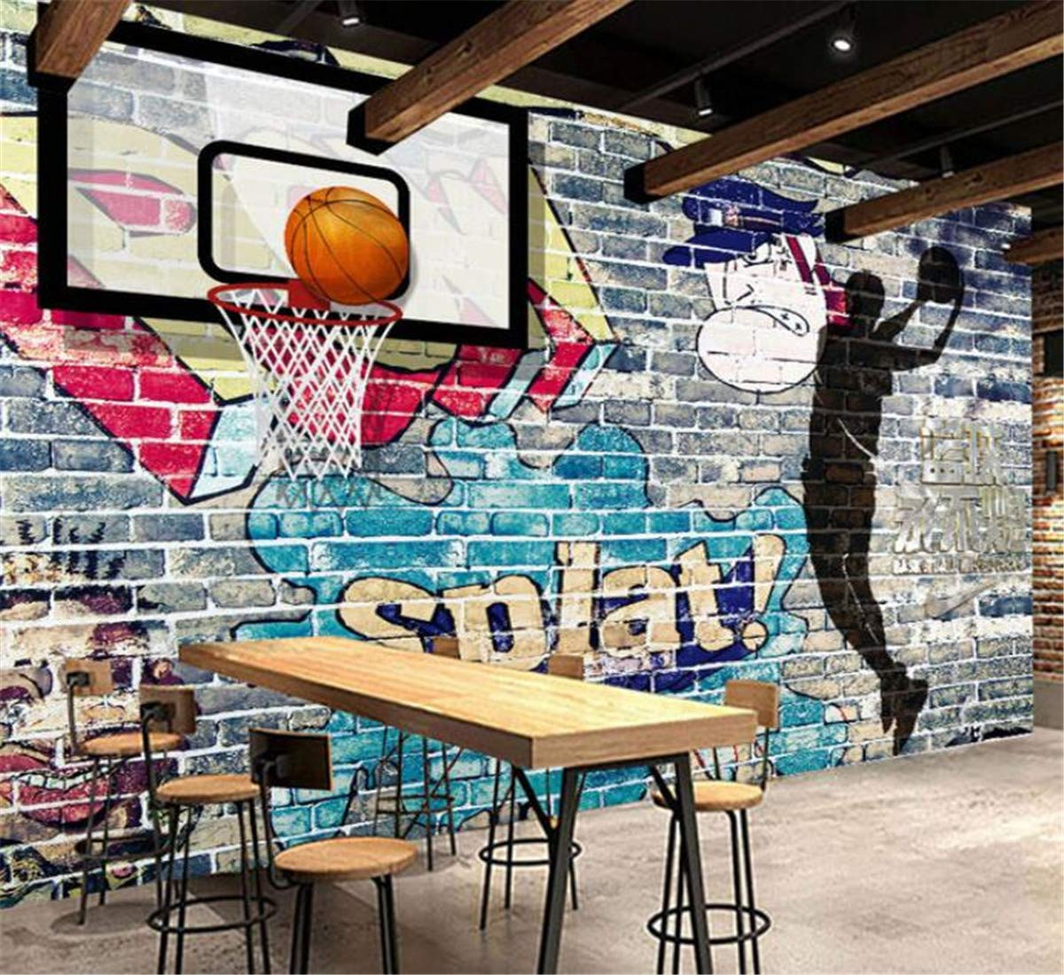 Custom Mural Wallpaper Abstract Graffiti Art Pared De Ladrillo ...