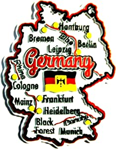 Germany Map Fridge Magnet