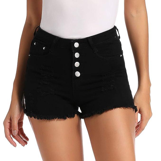Amazon.com: Mujer Sexy Elástico Tela Caliente Pantalones ...