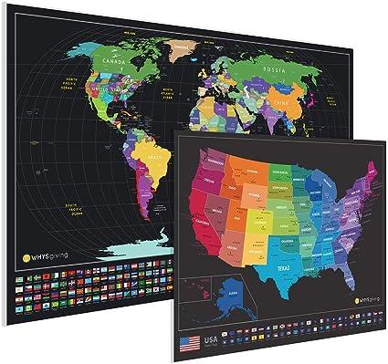 Grosste Kratz Weltkarte Detaillierte Kartographie Und