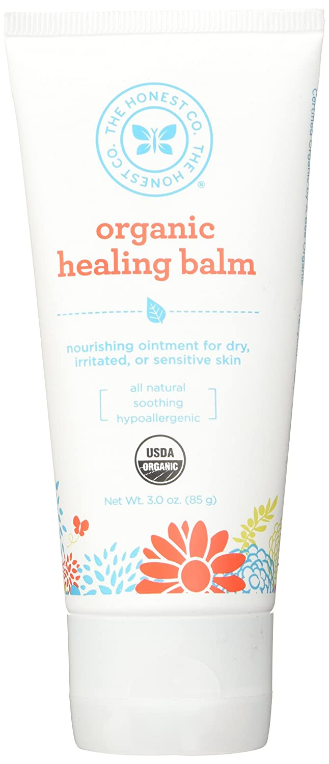 The Honest Company Healing Balm Soothing Protection & Relief for Sensitive Skin & Diaper Rash,3 oz.